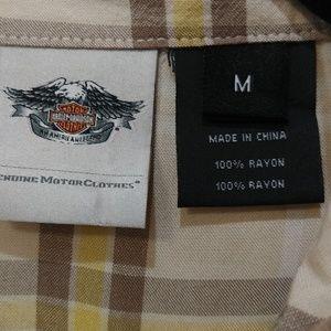 Harley-Davidson Tops - Harley Davidson button down wing logo print back M